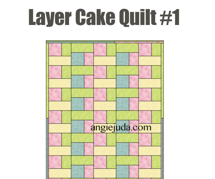 Layer Cake Quilt 1 Pattern
