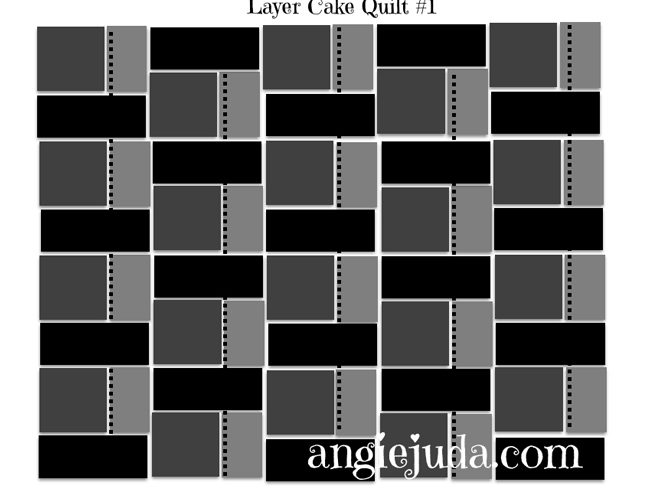 Layer Cake Quilt #1 Diagram