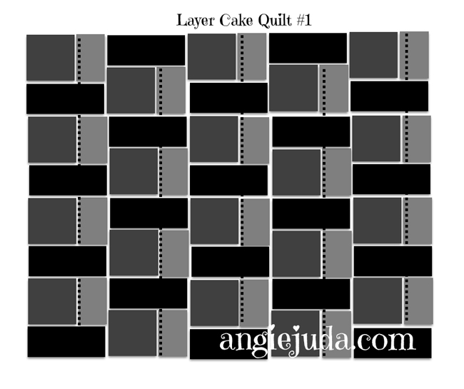 Layer Cake Quilt #1 Diagram