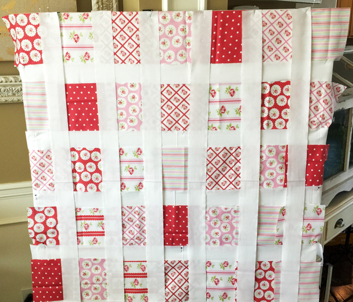 LuLu Roses Quilt in the works