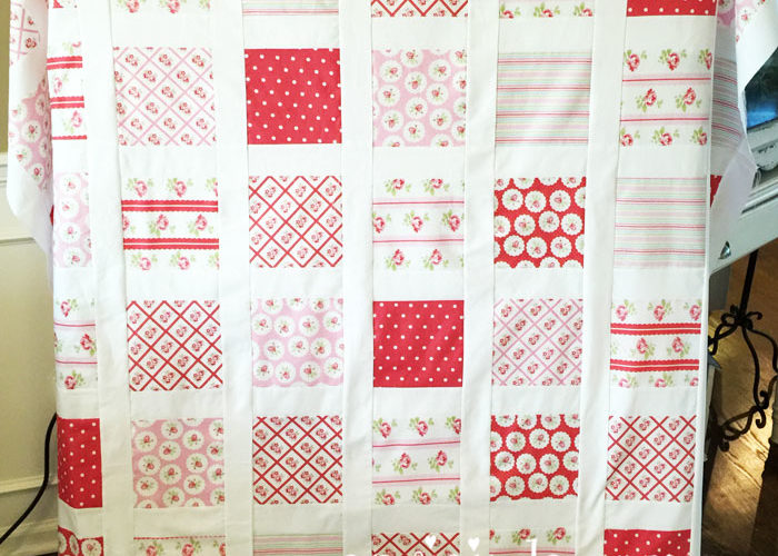 Lulu Roses Quilt Top Complete