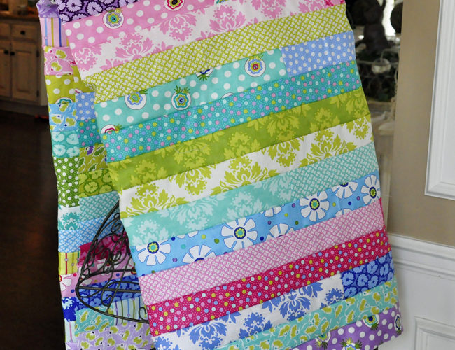 LOL Jelly Roll Quilt Top