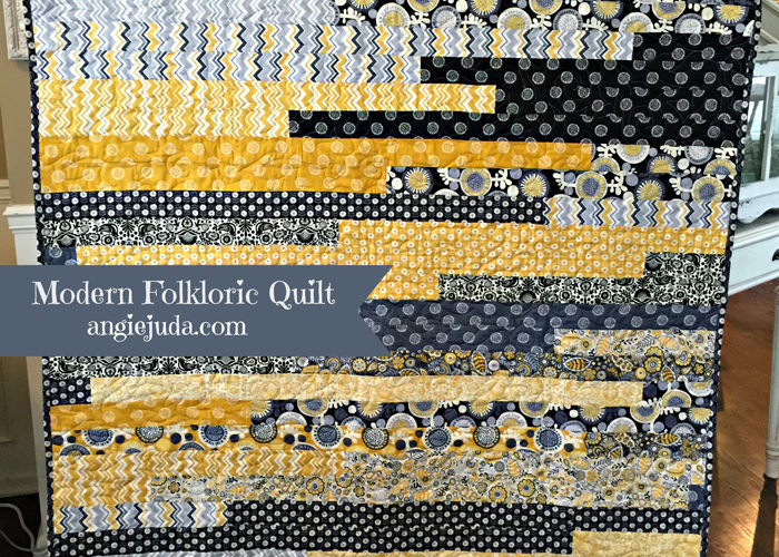 Modern Folkloric Double  Scoops Quilt