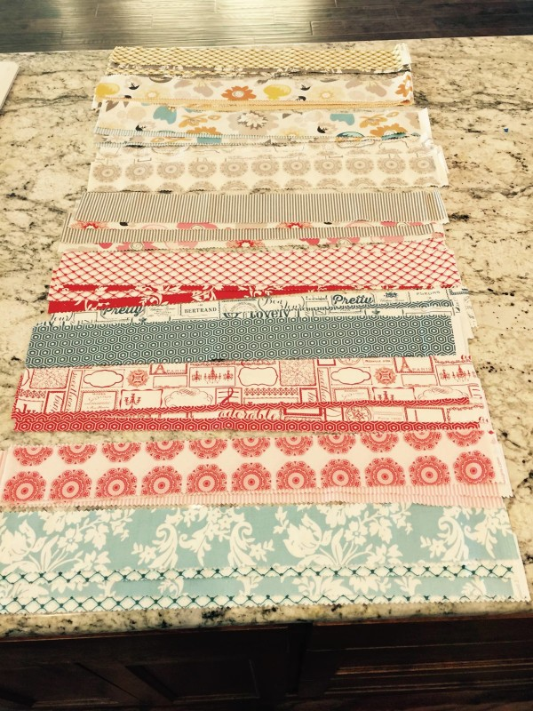 fence rail quilt strips
