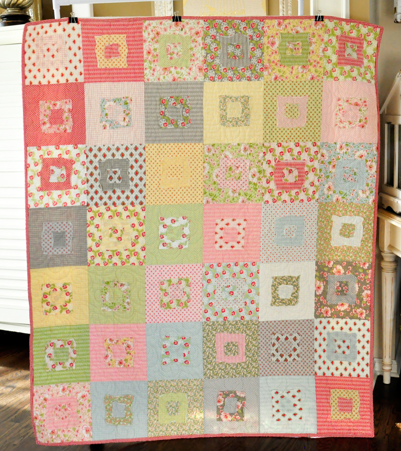 Raw Edges Square Quilt Complete