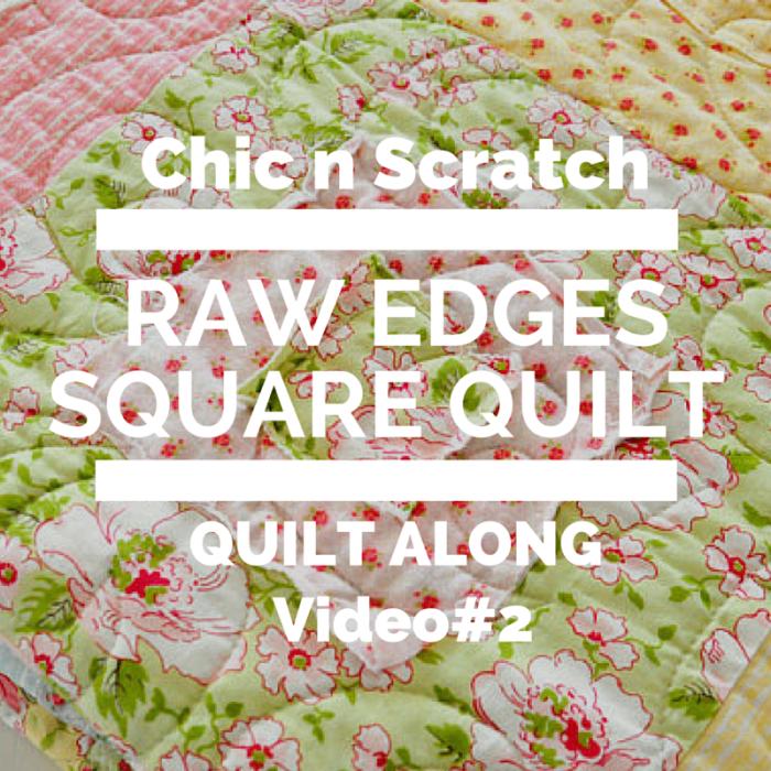 Raw Edge Squares Quilt #2