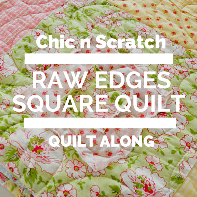 Raw Edges Square Quilt Along