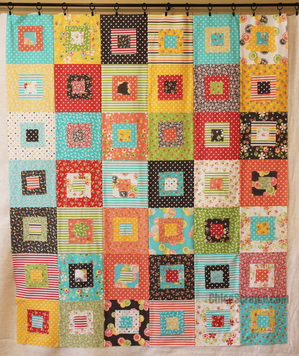 Raw Edges Square Quilt