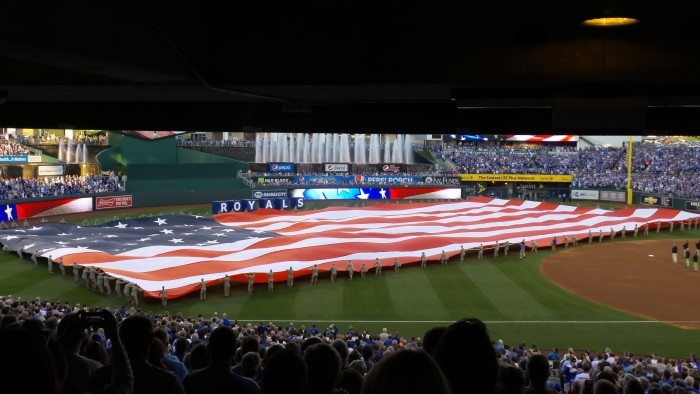 Royals and Mets Flag April 3 2016