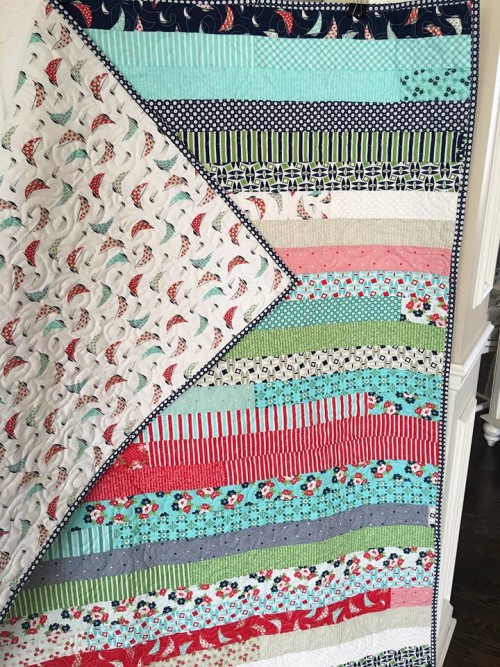 DAYSAIL JELLY ROLL QUILT Back Side
