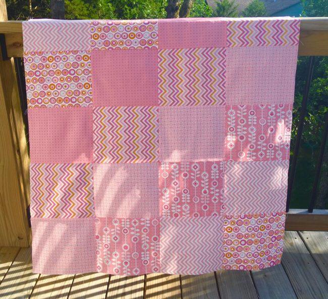 Fat Quarter Quilt Pink