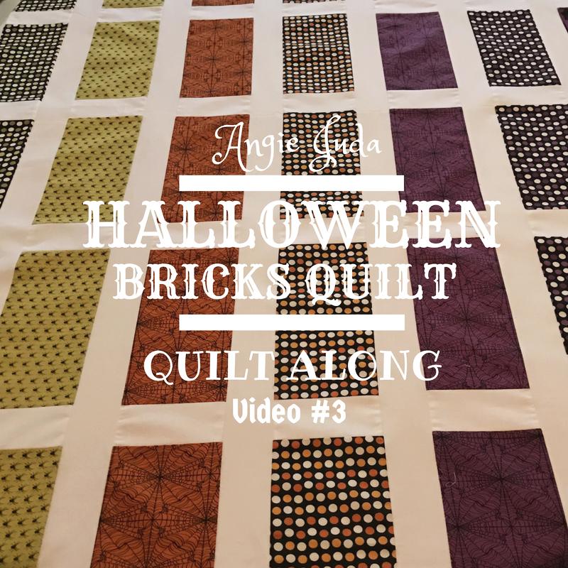 Halloween Bricks Quilt Along Part 3