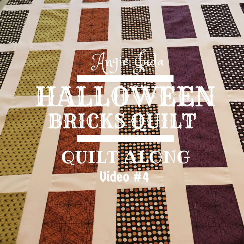 Halloween Bricks Quilt Along Part 4